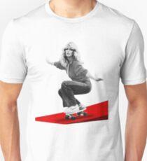 Farrah Fawcett Skateboard Unisex T-Shirt