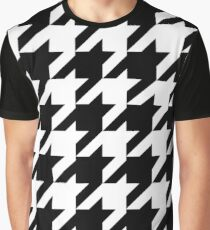 Classic Houndstooth - Large Print Graphic T-Shirt