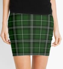 St. Patrick's Day - Green Plaid Pattern Mini Skirt