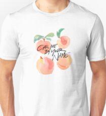 Camiseta unisex Llámame por tu nombre - Melocotones