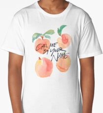 Call Me By Your Name - Peaches Long T-Shirt