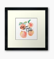 Call Me By Your Name - Peaches Framed Print