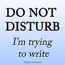Trying to write by Zarlina