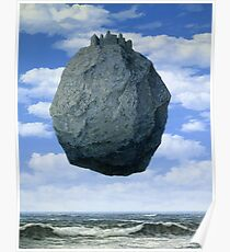 The Castle of the Pyrenees( Le Chateau de Pyrenees)-Rene Magritte Poster