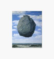The Castle of the Pyrenees( Le Chateau de Pyrenees)-Rene Magritte Art Board