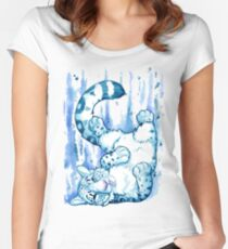 Snow Leopard Tumble Women's Fitted Scoop T-Shirt
