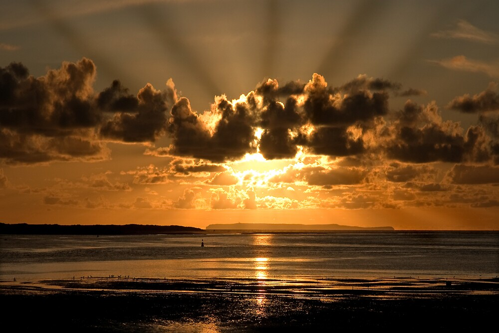 Instow sun rays by Robert Kendall