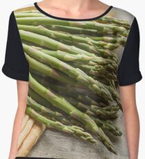 Fresh Asparagus Chiffon Top