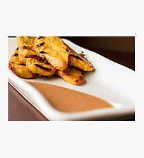 Chicken Satay Spicy Peanut Sauce Photographic Print
