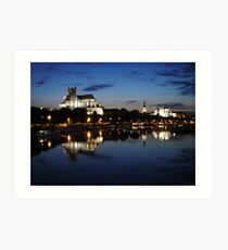 Auxerre by night Art Print
