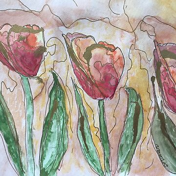 Trois Fleurs Dansantes  by Dottiepvisker