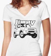 Suzuki Jimny Women's Fitted V-Neck T-Shirt