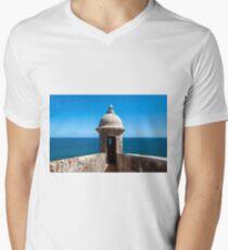 Castillo San Felipe del Morro. Mens V-Neck T-Shirt