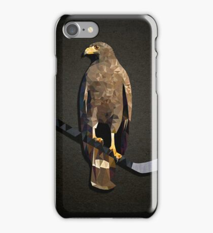 Polyhawk on Black iPhone Case/Skin