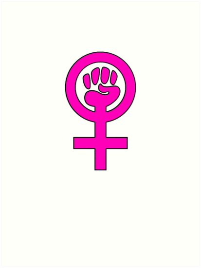 Women S Power Feminist Symbol 2 Art Prints By 321outright Redbubble