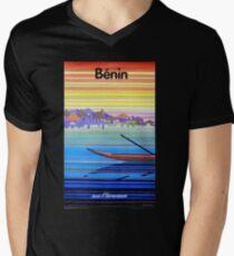 Air Afrique - Benin T-Shirt mit V-Ausschnitt für Männer