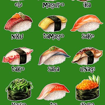Nigiri, Please - The Sushi Menu You Can Wear! by iKiska