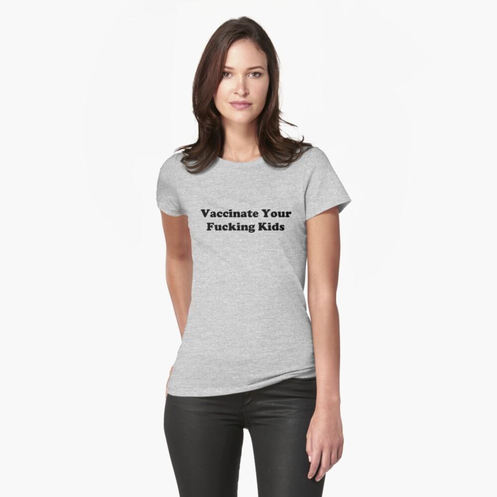 Impfen Tailliertes T-Shirt
