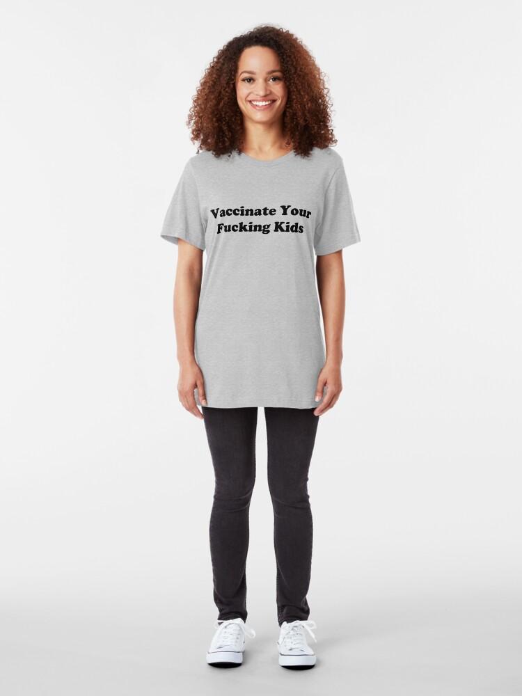 Alternative Ansicht von Impfen Slim Fit T-Shirt