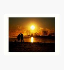 sunrising ( looking at the sun).... Art Print