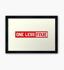 One Less Fixie Framed Print