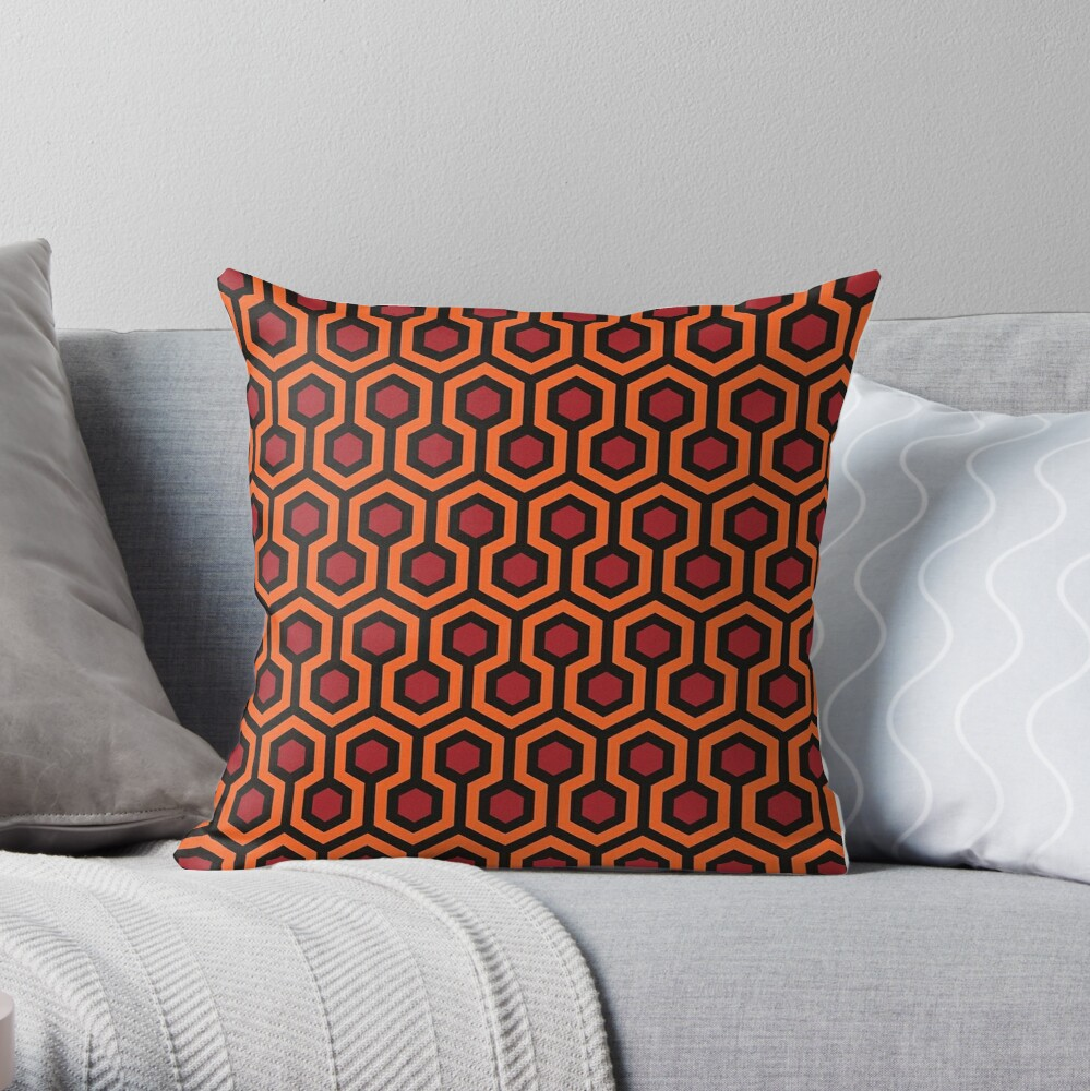 Overlook Hotel Carpet The Shining Throw Pillow