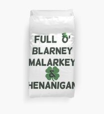 St Patricks Day Distressed Full O' Blarney Malarkey Shenanigans Duvet Cover