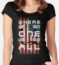Q - QANON - WHERE WE GO ONE WE GO ALL (UPDATE read description) Women's Fitted Scoop T-Shirt