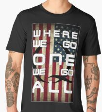 Q - QANON - WHERE WE GO ONE WE GO ALL (UPDATE read description) Men's Premium T-Shirt