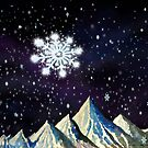 Starry Night with Snowflake by Kevin Middleton