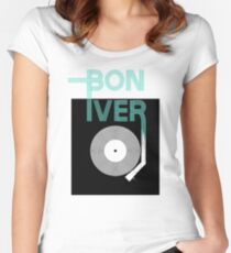bon iver - holocene Women's Fitted Scoop T-Shirt