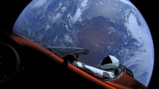 SpaceXs Starman von bobbooo