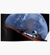 SpaceXs Starman Poster