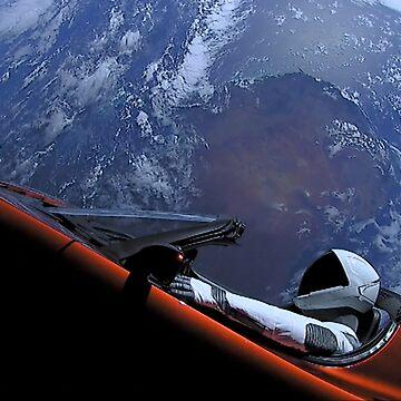 SpaceX's Starman by bobbooo