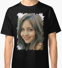 Amanda Bynes - Celebrity - Oil Paint Art Classic T-Shirt