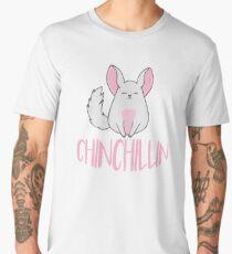 Chinchilla Just Chinchillin in Pink Men's Premium T-Shirt