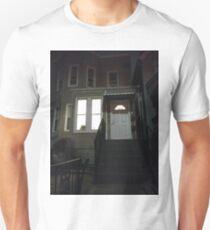 House, New York, Manhattan, Brooklyn, New York City, architecture, street, building, tree, car,   Unisex T-Shirt
