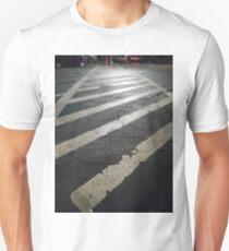 Zebra crossing, New York, Manhattan, Brooklyn, New York City, architecture, street, building, tree, car,   Unisex T-Shirt