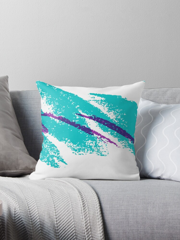 '80's/90's Solo jazz pattern dixie cup' Throw Pillow by Machvilest