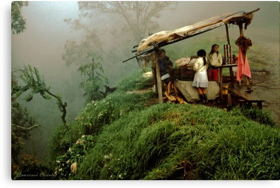 Colombian Road Stand by Larry Costales