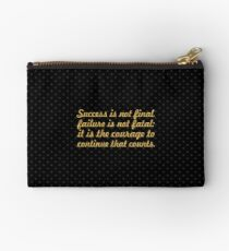 "Success is not final... ""Winston Churchill"" Success Quote Studio Pouch"