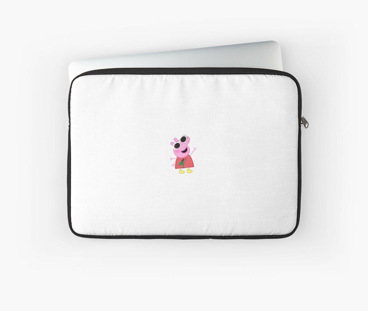 Peppa Pig Laptop Sleeve By Danceallstar