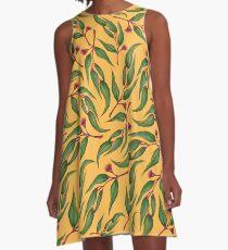 Yellow eucalyptus pattern A-Line Dress