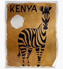 Vintage Travel Poster Kenya Poster