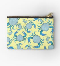 Yellow and Blue Swimmer Crab Studio Pouch