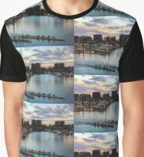 Sunset at Mackay Marina, Queensland Australia Graphic T-Shirt