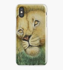 Lion in Leaves iPhone Case/Skin