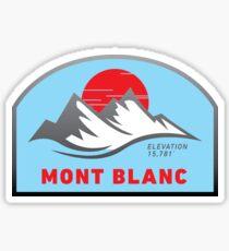 Mont Blanc - 02 Sticker