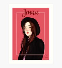 Jennie Blackpink Fanart Art Print