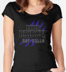 BUILD BRIDGES NOT WALLS 2.0 Women's Fitted Scoop T-Shirt